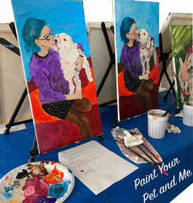 Paint Your Pet (and you) art class