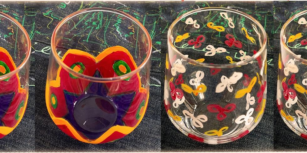 Paint On Wine Glasses!