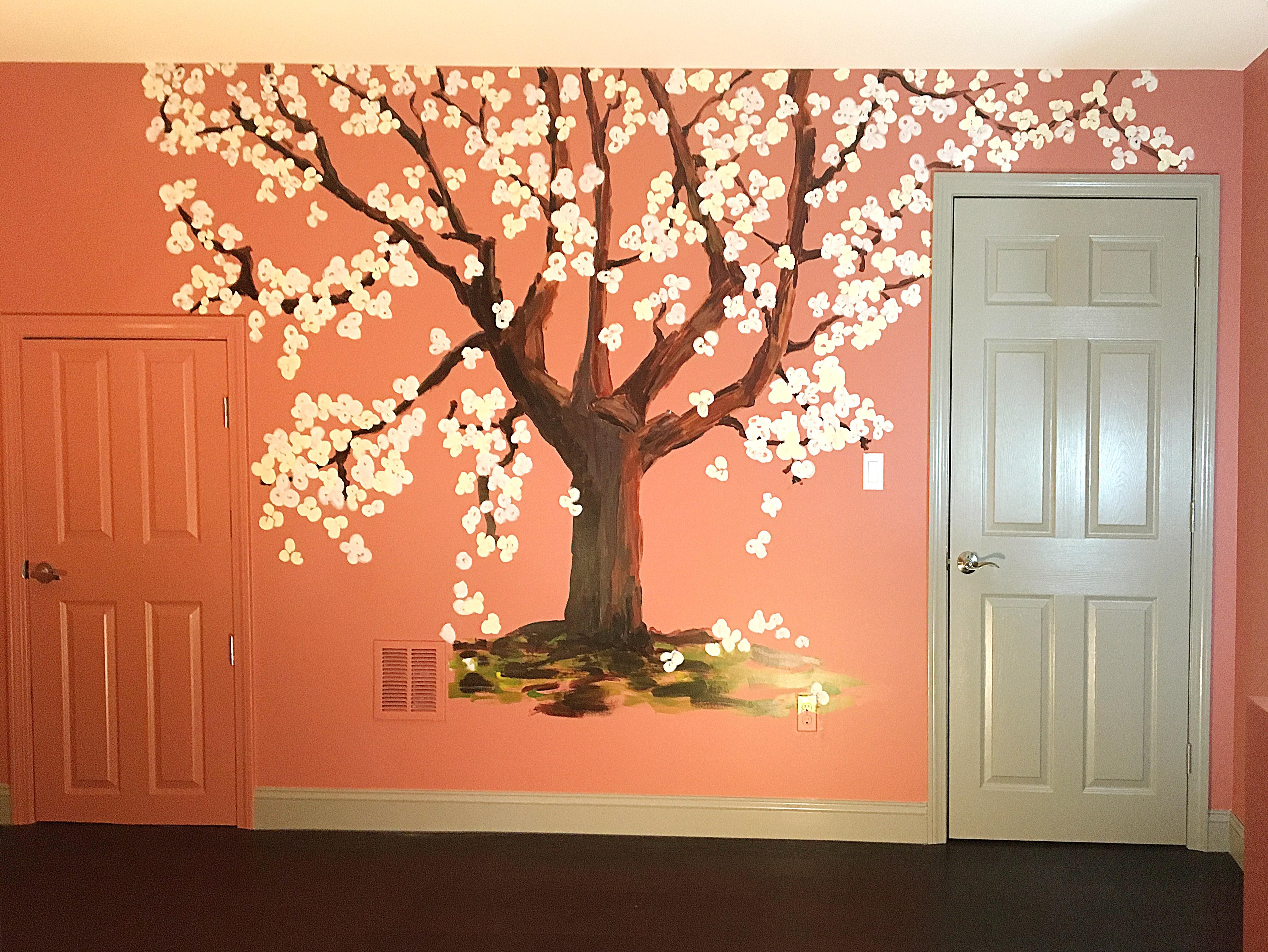 Custom Mural - Spring Tree 3