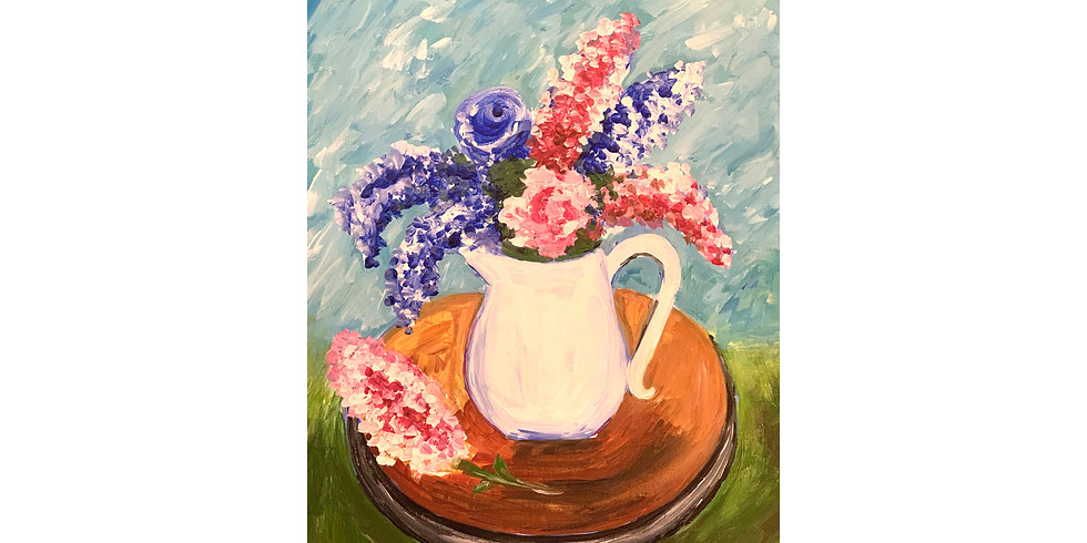 Virtual Paint Party - Flowers