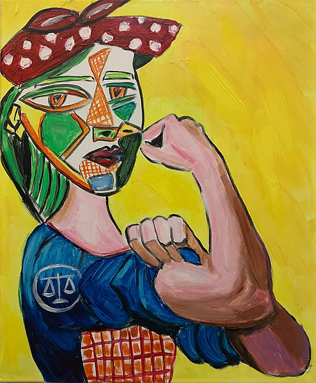 Rosie the Riveter meets Picasso