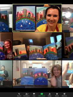Looking for ideas for Mother's Day? How about a virtual paint and sip -
