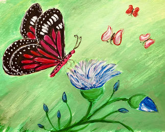 Celebrate any holiday with this fun butterfly flower painting