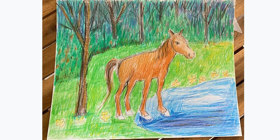 Virtual Drawing Party - Horse