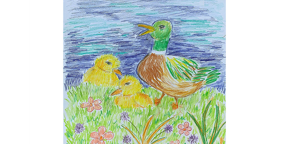 Virtual Drawing Party - Ducklings