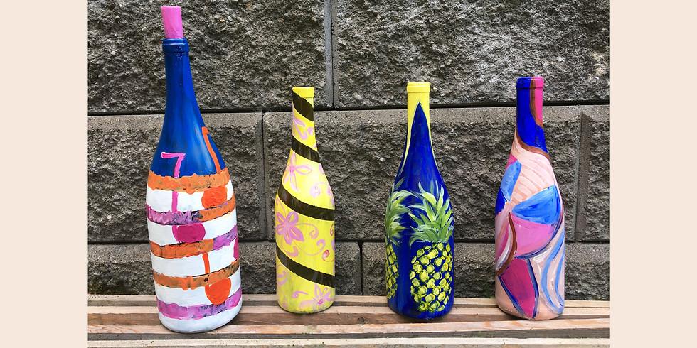 Paint on Wine Bottles!