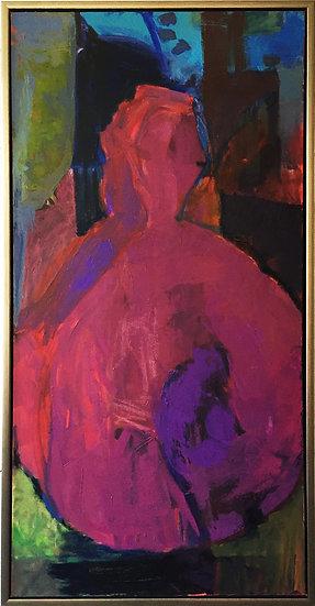 """Oil on canvas, 24x48"""" Framed"""