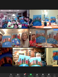 Virtual Happy Hour Paint and Sip
