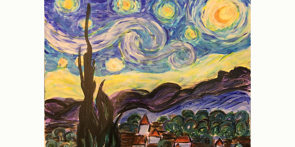 Virtual Paint Party - Starry Night