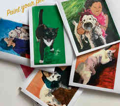 paint your pet, we will have it pre-traced for you