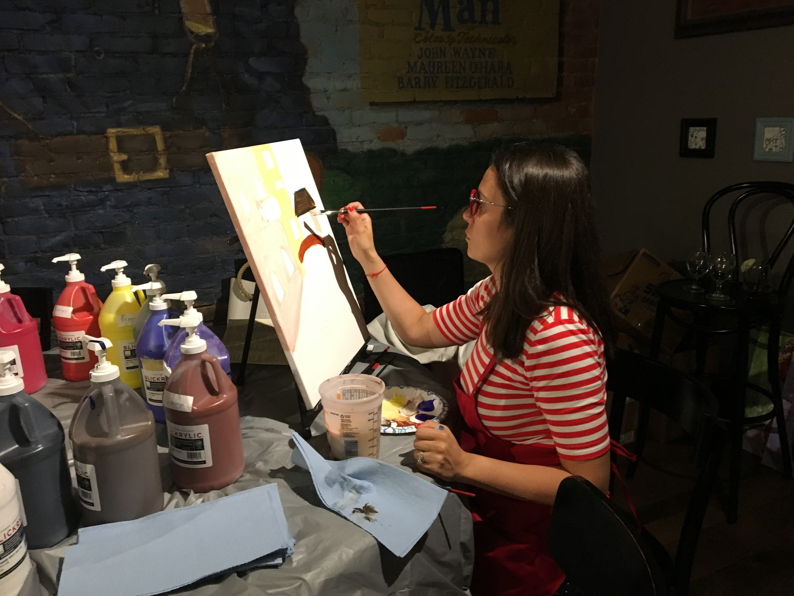 Wine and canvas paint and sip events near boston ma for Wine and paint boston