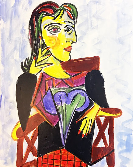 Picasso on Chair