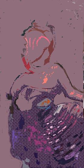 "Print on giclee paper 15x30"" Framed"