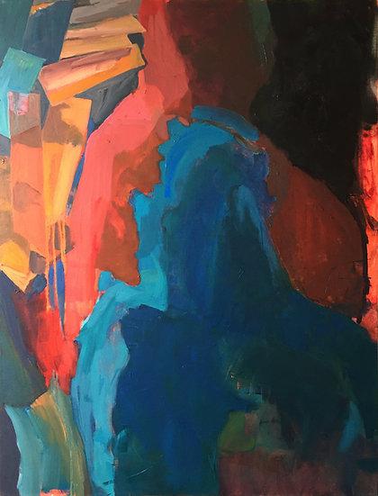 "Oil on canvas, 40x30"""