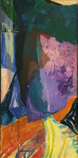 "Oil on Canvas, 24x48"""