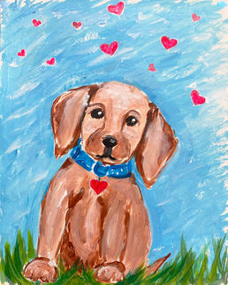 Valentines Pup