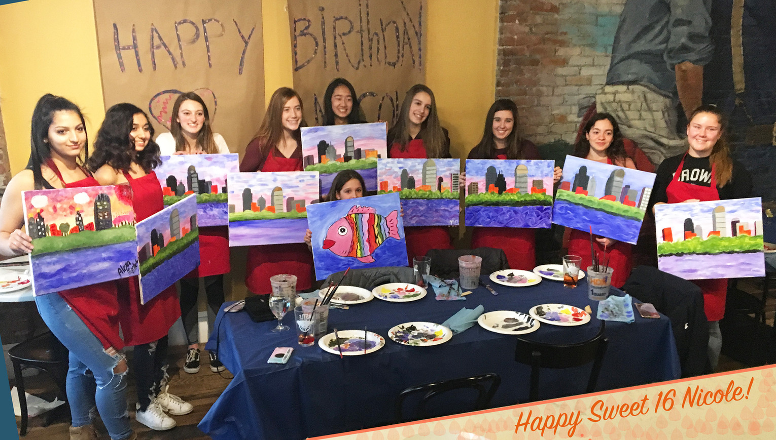 Sweet Sixteen Birthday Paint Party 🎊 🎈