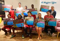 Paint and Sip at Wayfair