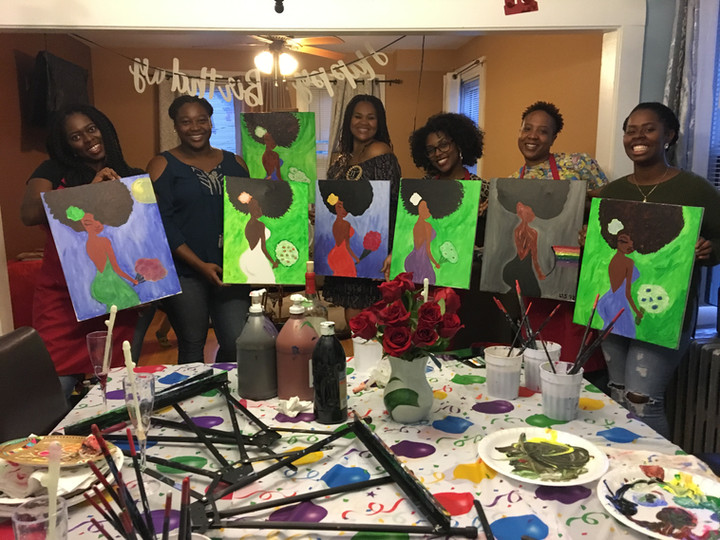and another Surprise Birthday Painting Party 🎈 🎊