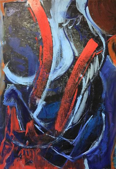 "Oil on Canvas, 22x30"""