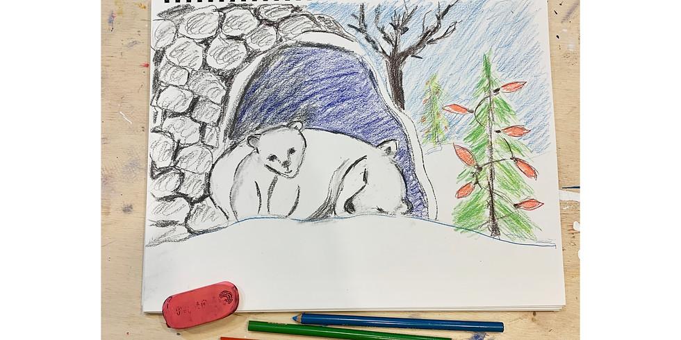 Free Virtual Drawing Party - Polar Bears