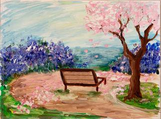 Cherry Blossom Bench