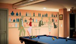 Custom Mural - Game Room - 3