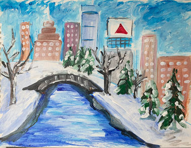 Winter City on paper - wd2
