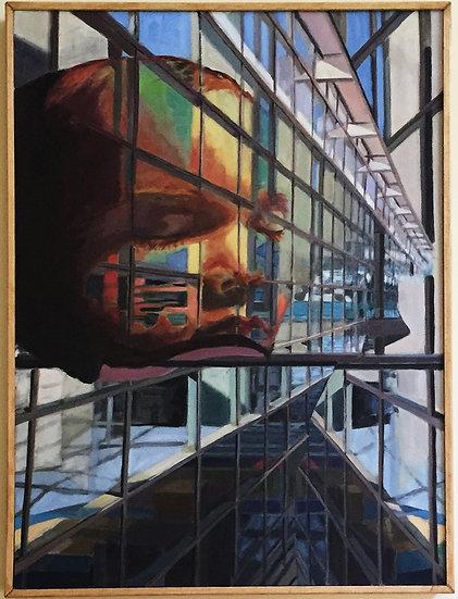 """Oil on canvas, 44x36"""" Framed"""