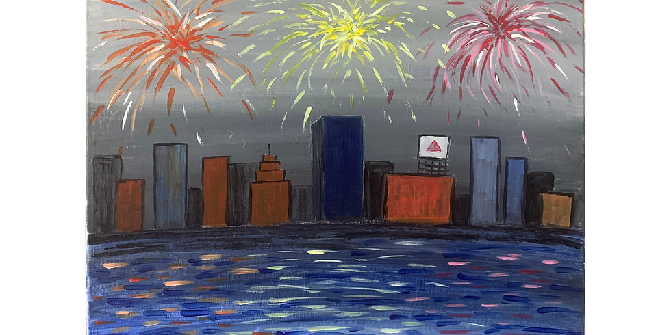 Virtual Paint Party - Fireworks-3