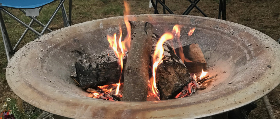 Ceremonial fire in the Tipi