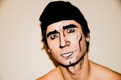 Creative makeup comics model