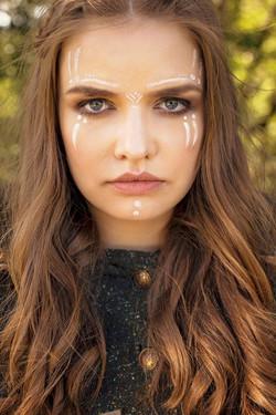 "Creative makeup model ""Tribal women"""