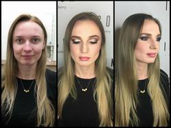 Makeup model 6 before and after makeup