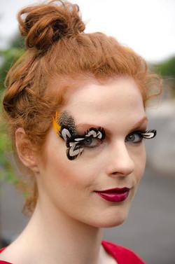"Auburn makeup model ""The bird"""