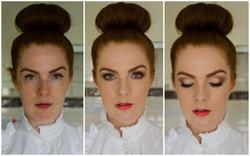 Makeup model 3 before and after makeup