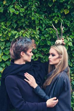 """Creative makeup models """"Pagans"""""""