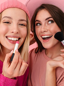 Teen makeup models