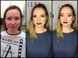 Makeup model 4 before and after makeup