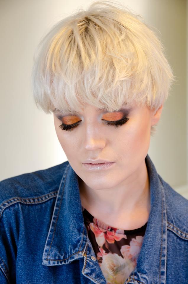 Creative makeup model