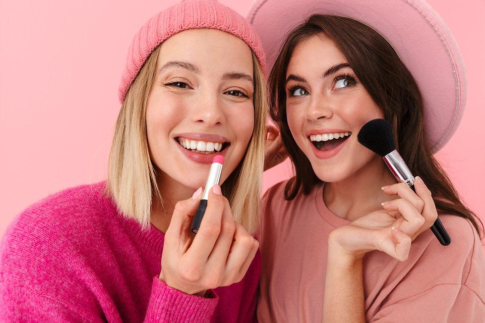 Teens makeup models