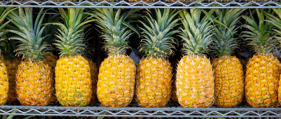 Pineapples from Colombia