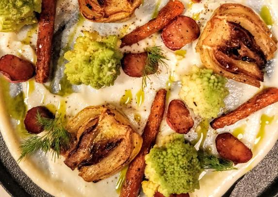 Roast Fennel w Skordalia