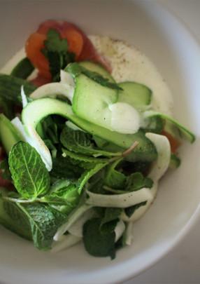 Cured Salmon w Fresh Yoghurt