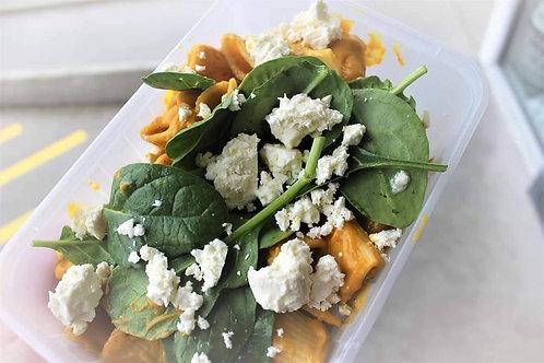 Pumpkin Rigatoni w/ Spinach & Feta
