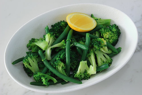 Steamed Greens and Lemon