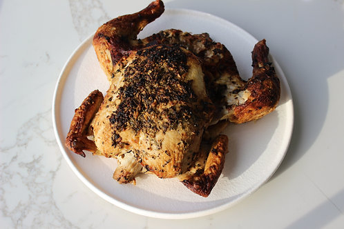 Whole Roasted Lemon and Herb Chicken