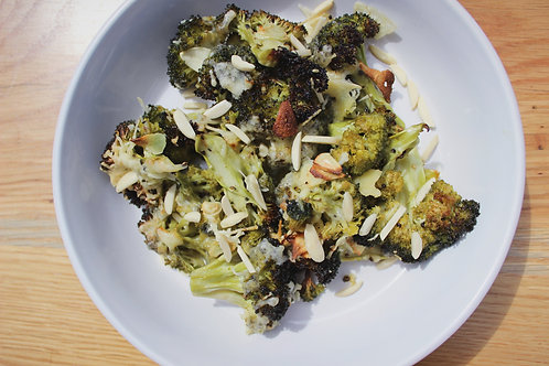 Cheesy Baked Broccoli with Garlic & Parsley