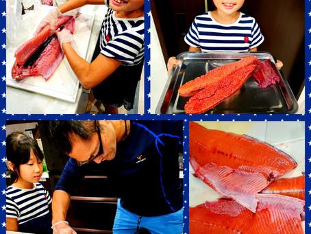 鮭を捌く!!