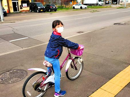 娘の自転車特訓&好物♪